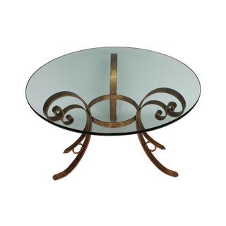 Gilded Scrolled & Glass Dining Table