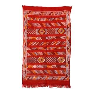 """Vintage Moroccan Cactus Silk - 3'1"""" X 4'11"""" Feet"""
