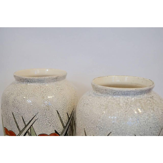 Rare Matching Pair of Charles Catteau Geometric Vases - Image 3 of 6