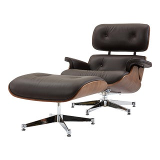 Pasargad's Florence Brown Leather Lounge Chair
