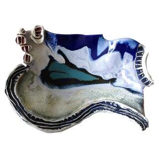 Blue Studio Pottery Console Dish