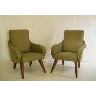 Pair of Elegant Curvy Mid Century Modernist Chairs