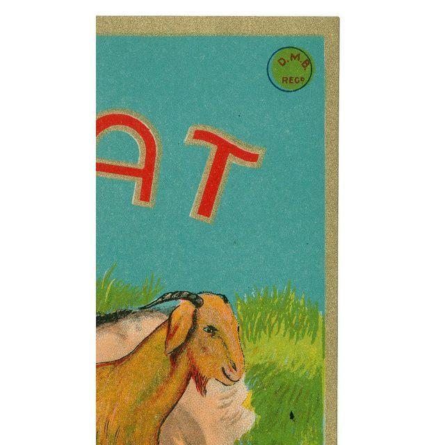 Vintage Goat Fabric Label Archival Print - Image 2 of 3