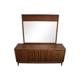 Broyhill Mid-Century Fruitwood Dresser with Mirror