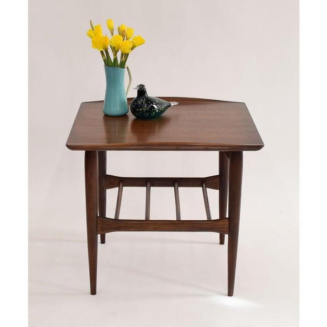 "Bassett Walnut Surfboard Coffee Table: Mid-Century ""Surfboard"" Table By Bassett Artisan"