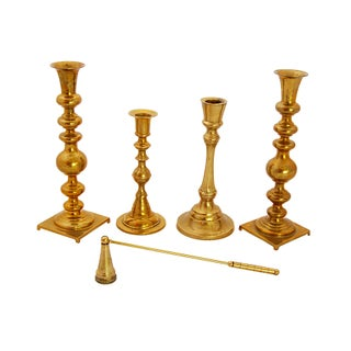 Brass Candle Holder Set - 5 Piece Collection