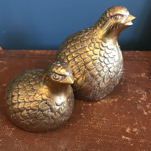 Brass Quails - A Pair - Image 5 of 6