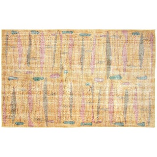 "Turkish Art Deco Rug - 4'11"" x 8'1"""