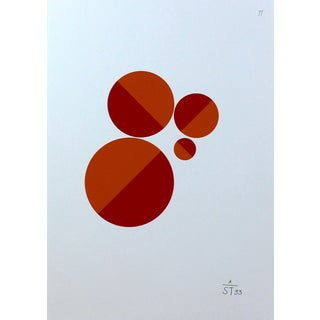 Anton Stankowski Classic Abstract Red Circle Serigraph