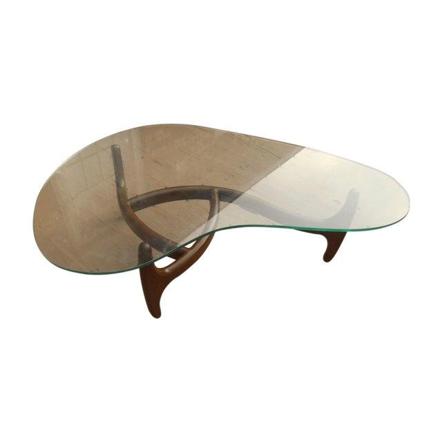 Adrian Pearsall Walnut Kidney Shape Coffee Table