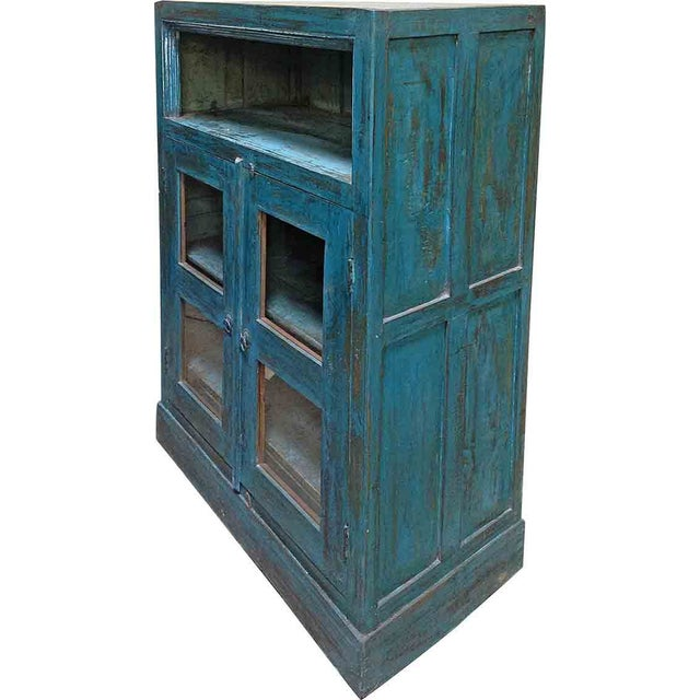 Turquoise Display Cabinet - Image 1 of 2