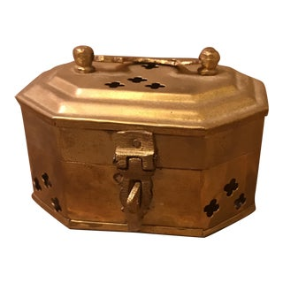 Hexagonal Brass Cricket Box