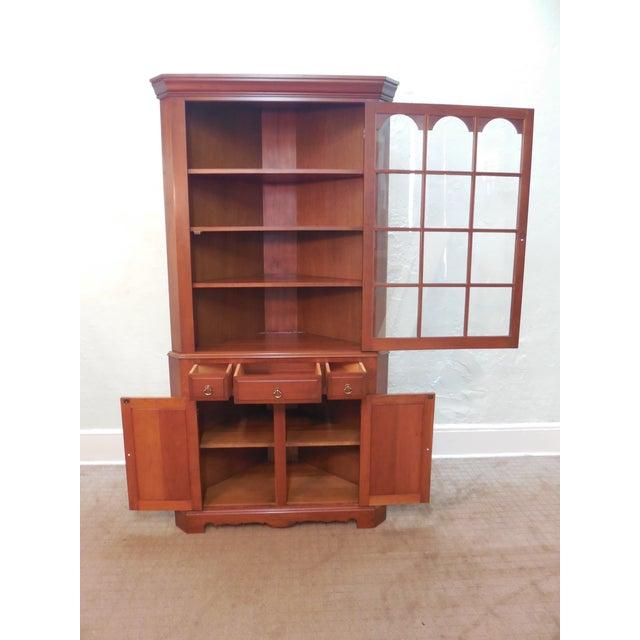 Vintage Custom Solid Cherry Corner Cabinet - Image 2 of 10