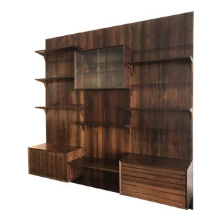 Brazilian Danish Modern Rosewood Wall Unit by Cado