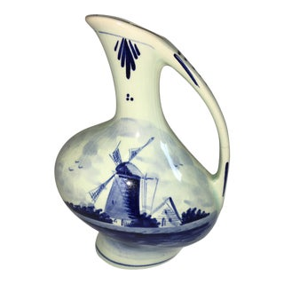 Delft Hand Painted Blue Jug
