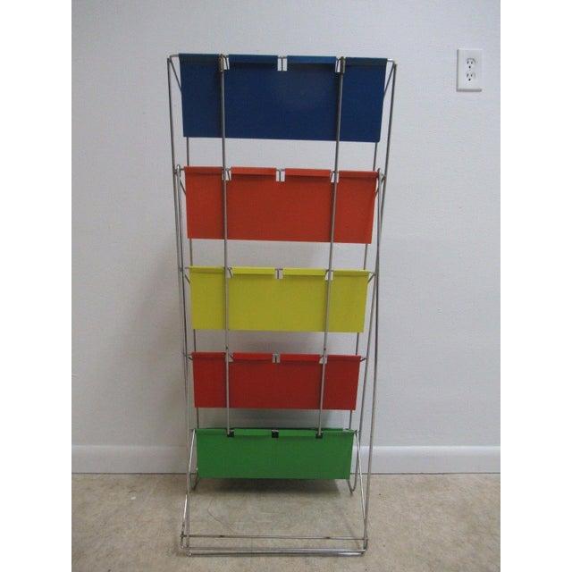Vintage Chrome Multicolor Book Rack - Image 5 of 11