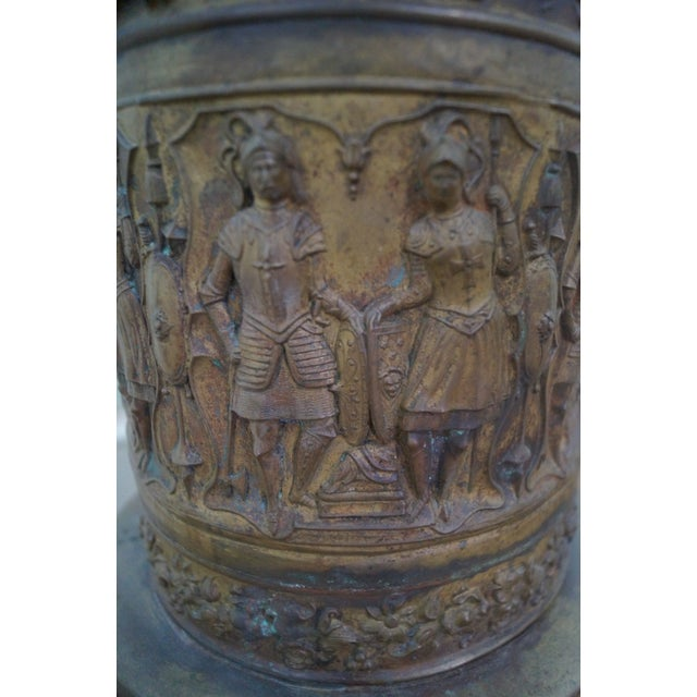 19th Century Brass Relief Neo Classical Pedestal - Image 8 of 10