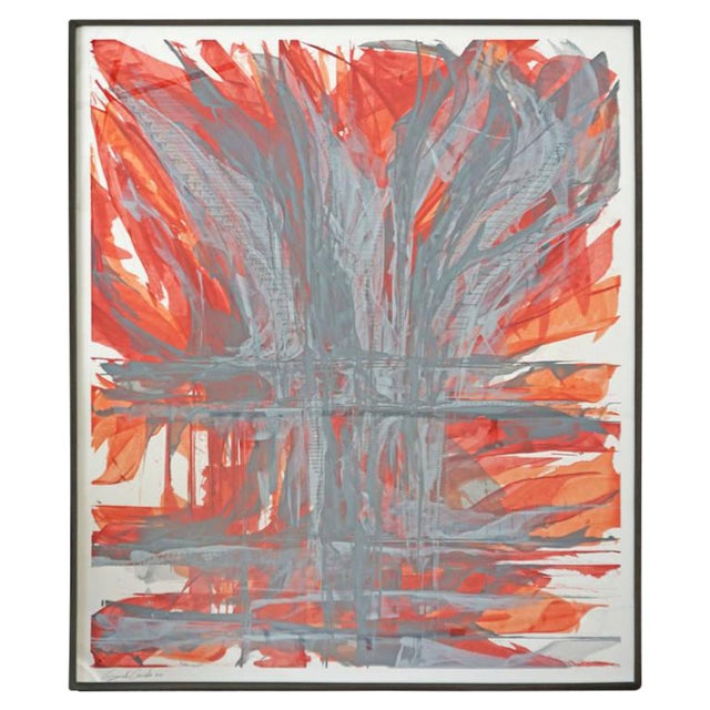 """IR-1534 Red Fire"" Painting - Image 1 of 7"