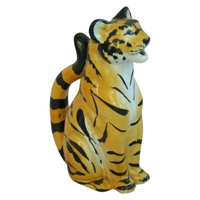 Italian Hollywood Regency Tiger Pitcher - Image 1 of 8
