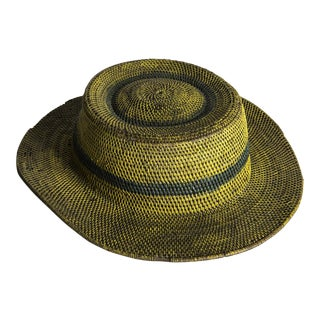 Hand-Painted African Woven Hat