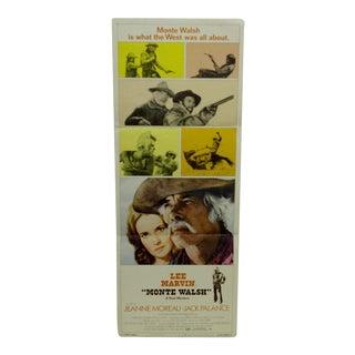 "Vintage 1970 ""Monte Walsh"" Movie Poster"