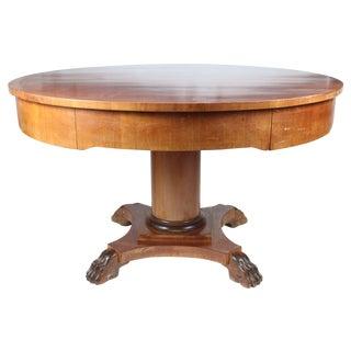 1890s Mahogany Table with Wood Inlay