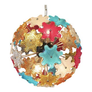 Murano Multicolored Floral Sputnik Chandelier, 1970