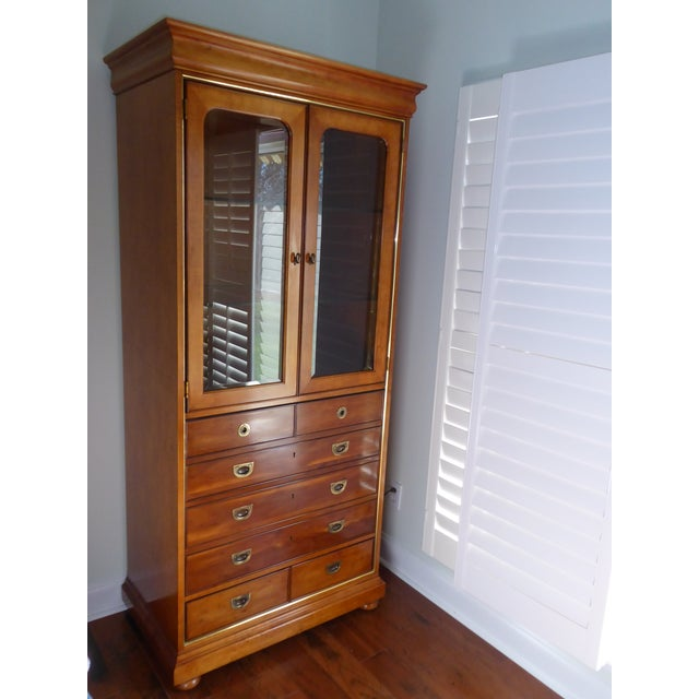 Image of Mt. Airy Entertainment Display Armoire Cabinet