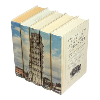 Sarried Ltd Tower of Pisa Books - Set of 5