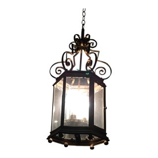 French Vintage Brass Lantern Light