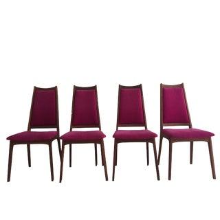 Mid-Century Danish Modern Dining Chairs - Set of 4