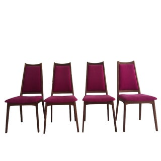 Mid-Century Danish Modern Dining Chairs - Set of 4