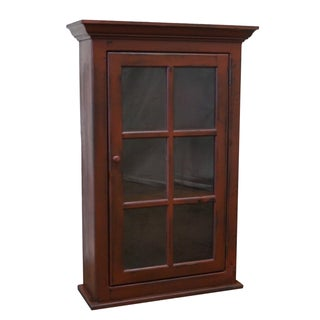 Hand Crafted Red Paint Country Hanging Cupboard