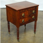 Image of 19th Century Federal Mahogany Work Table