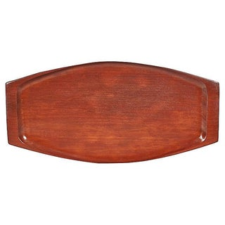 1960s Rectangular Wood Serving Tray