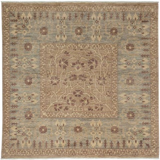 "Ziegler, Hand Knotted Square Rug - 5' 10"" x 6' 1"""
