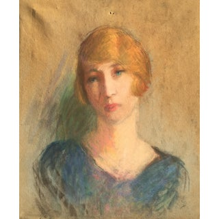 Vintage French Oil Painting Portrait