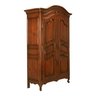 French Louis XV Style Armoire in Cherrywood, circa 1800s