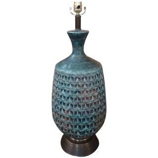 Italian Raymor Style Mid-Century Ceramic Pineapple Lamp