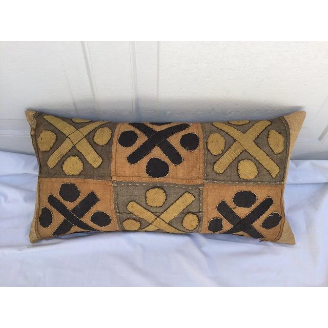 African Kuba Cloth Pillows- A Pair - Image 4 of 7