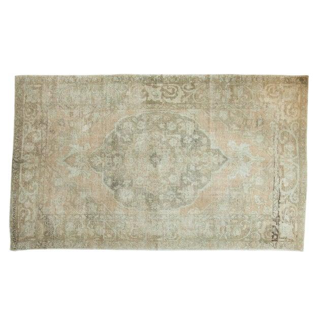 "Vintage Distressed Oushak Carpet - 5'8"" x 9'4"" - Image 1 of 10"