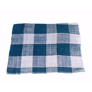 Indigo Plaid Organic Cotton Throw
