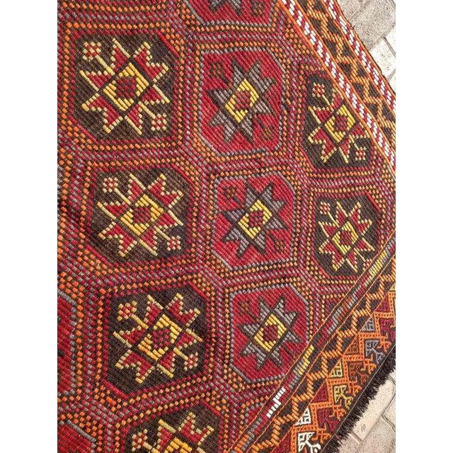 """Vintage Turkish Kilim Rug - 6'1"""" x 11'6"""" - Image 4 of 6"""