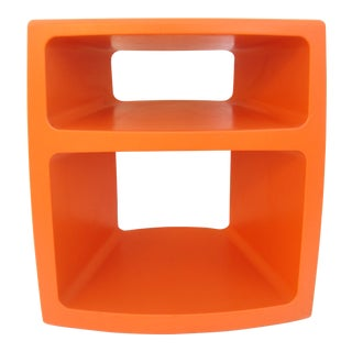 Kartell Colombo Space Age Orange Bar Cart