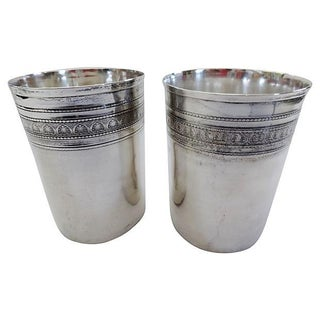 Coin Silver Beakers - A Pair