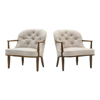 Pair of Janus Chairs by Edward Wormley for Dunbar, Beautifully Restored