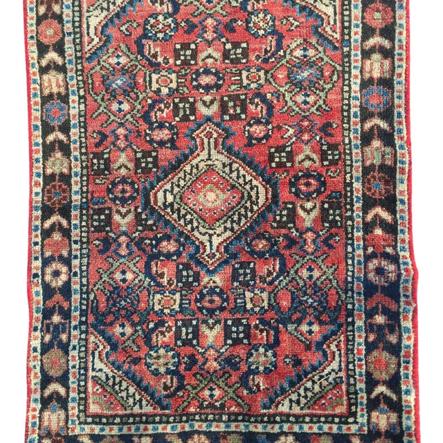 "22""x31"" Amazing Vintage Persian Rug 60yrs"