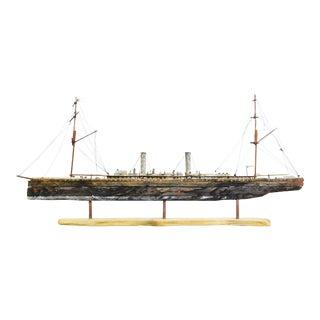 Hand Crafted Interpretation Model Steamliner Ship by John Taylor