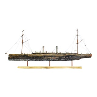 Hand Crafted Interpretation Model Steamliner Ship by John Taylor