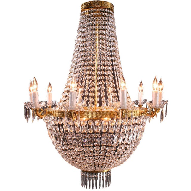 Italian Cut Glass Empire Napoleon Style Chandelier - Image 1 of 6